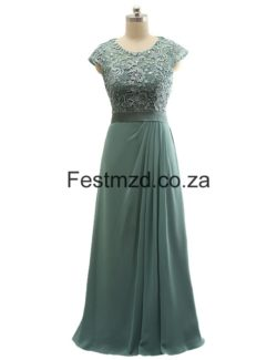 Darkgreen Half-Sleeve Lace Mother Of The Bride Dresses – Festmzd.co.za