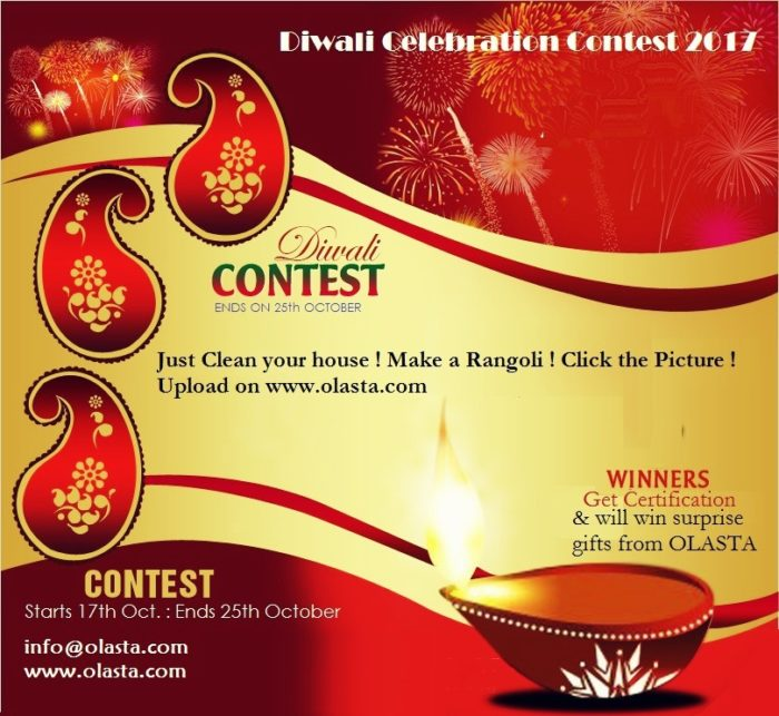 Diwali Celebration Contest 2017  Rangoli, also known as kolam or muggu is a folk art from India. ...