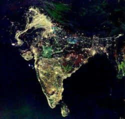 An amazing satellite image of India on diwali