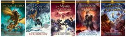 Heroes of Olympus' by Rick Riodan, an American author. All books in the series have been rated n ...