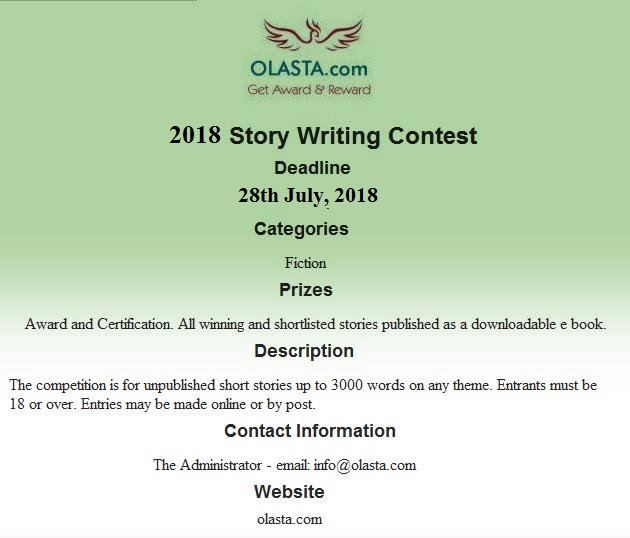 Story Writing Contest  Award & Certification.
