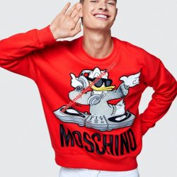 Moschino x H&M Womens Long Sleeves Sweater Red