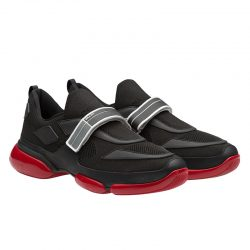 Prada 2OG064 Men Cloudbust Sneakers In Black/Red