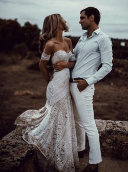 Buy Ivory Lace Country Wedding Dresses Sweetheart Beach Mermaid Bridal Gown PW243 – MyGirlProm.com