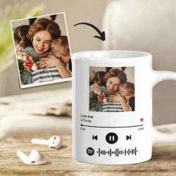 Custom Scannable Spotify Code Photo Mug For Mom