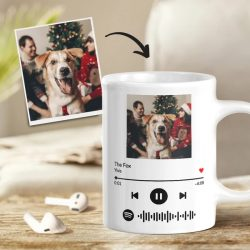 Custom Scannable Spotify Code Photo Mug For Pet Lovers