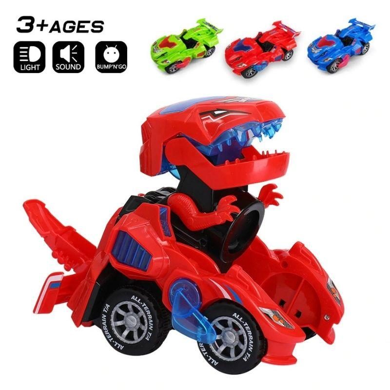 Transforming Dinosaur LED Car – BigBoomidea