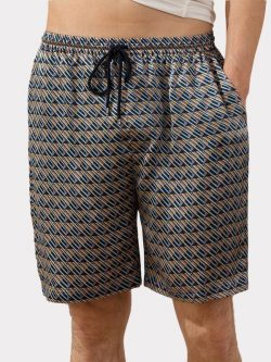 22 Momme Luxury Printed Silk Boxer For Men | Could Be Worn Outside