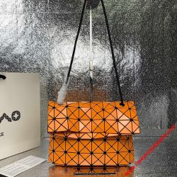 Bao Bao Issey Miyake Prism Shoulder Bag Orange