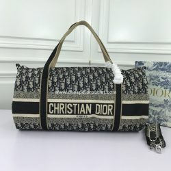 Christian Dior Bowling Bag Oblique Jacquard Blue