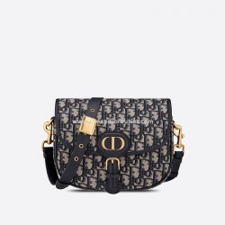 Medium Dior Bobby Bag Oblique Jacquard Blue