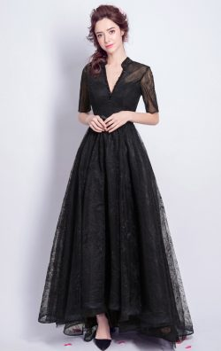 Black Evening Wear Short Sleeve Formal Gowns Online ,Fast Delivery Price  https://www.formaldres ...