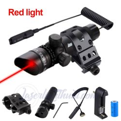 Tactical Hunting Red Green Dot Laser Sight Scope 21mm Rail Picatinny Mount Gun Specifications: S ...