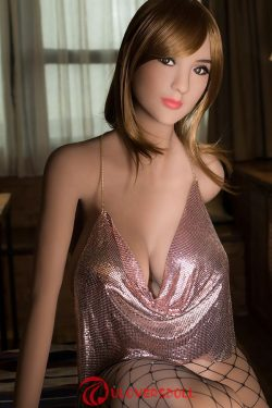 Silicone head of cheap sex doll sculpting hair transplant is divided into real hair and syntheti ...
